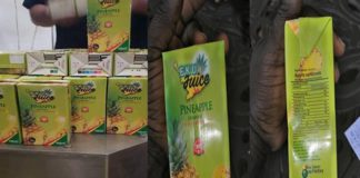 Pineapple Juice from the Ekumfi Juice Factory under One District One factory