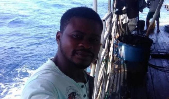 Emmanuel Essien went missing from the trawler Meng Xin 15 on July 5, 2019