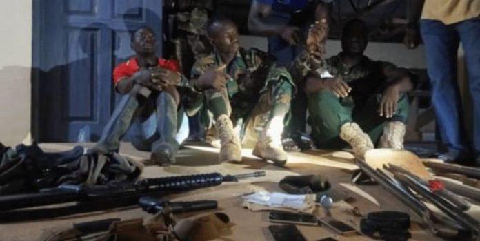 soldiers arrest