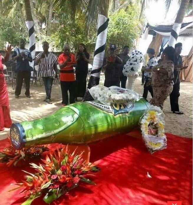 Beer-bottle-shaped coffin