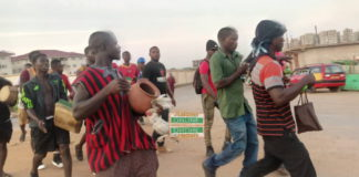Residents of Tema in the Greater Accra Region in the early hours of Tuesday hit the streets to register their displeasure against the role of the Traditional Council over unemployment