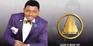 The Leader and Founder of Crown of Glory Assembly, Rev. Chris Asante who is popularly known as Abruku Abruka