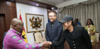 hinese actor and movie producer, Li Lianjie, popularly known as Jet Li, has landed in Ghana for the maiden edition of the Africa Netpreneurship Summit