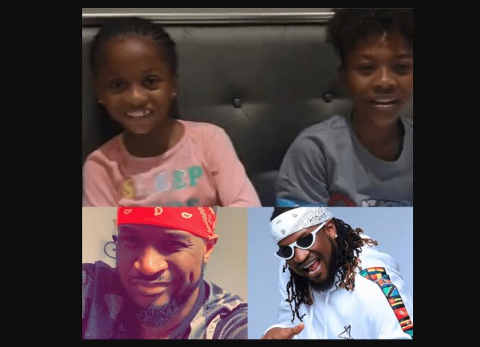 Watch as Peter Okoye's kids wish him, brother Paul a happy birthday