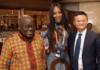 President Nana Addo Dankwa Akufo-Addo (L), Naomi Campbell (M) and Jack Ma