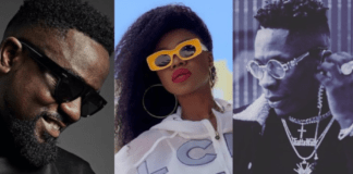 File Photo: Sarkodie (L), Becca (M) and Shatta Wale