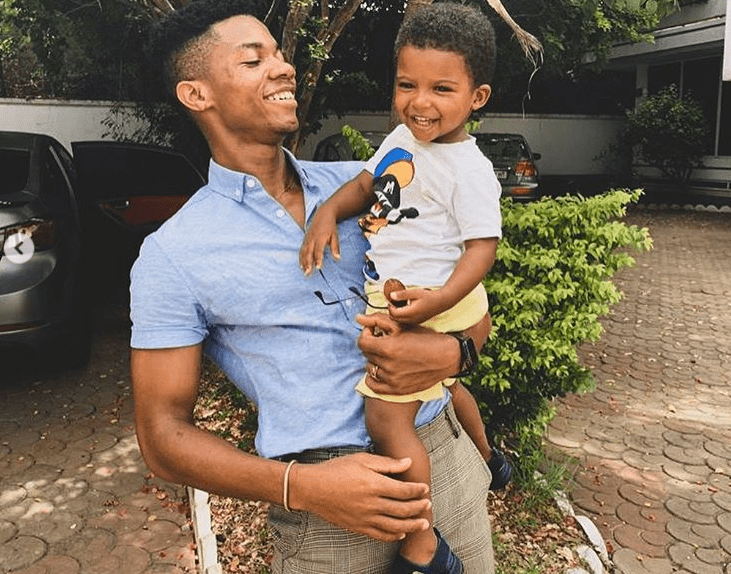 Kidi and his son, Zayne