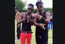 Shatta Wale (L) and Mr Logic