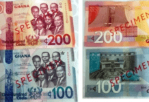 Bank of Ghana releases GH₵ 2 coin, 100, 200 Cedi notes