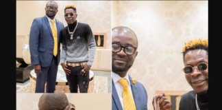 Shatta Wale meets new GFA president to discuss youth empowerment in sports