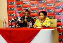 South African Tourism Minister, Mmamoloko Kubayi-Ngubane and South African High Commissioner to Ghana, Ms Lulama Xingwana