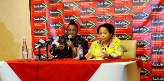 South African Tourism Minister, Mmamoloko Kubayi-Ngubane and South African High Commissioner to Ghana, Ms Lulama Xingwana