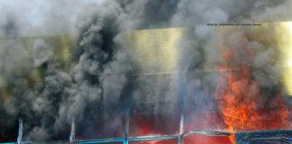 GRA building on fire
