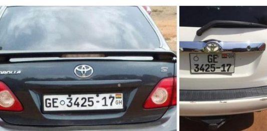 DVLA same number plate