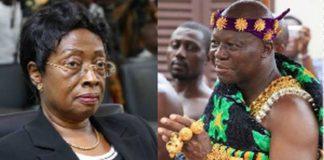 Chief Justice Sophia Akuffo and Asantehene Otumfuo Osei Tutu II