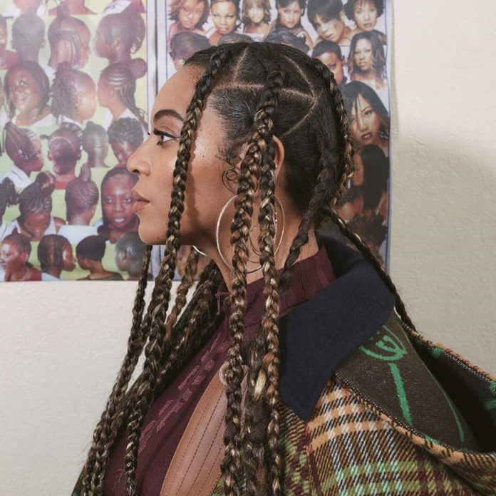 Beyoncé wearing braids, usually called 'rasta' in the Ghanaian parlance.
