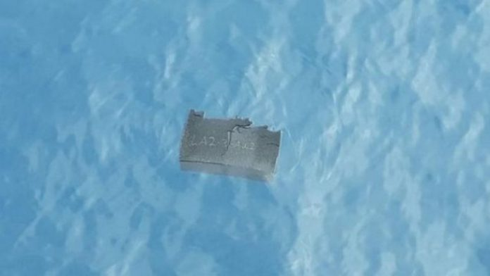 Debris was found floating in the area where the plane went missing on Monday