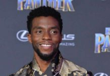 "Cast member Chadwick Boseman attends the premiere of the sci-fi motion picture ""Black Panther"" at the Dolby Theatre in the Hollywood section of Los Angele"
