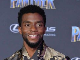 """Cast member Chadwick Boseman attends the premiere of the sci-fi motion picture """"Black Panther"""" at the Dolby Theatre in the Hollywood section of Los Angele"""