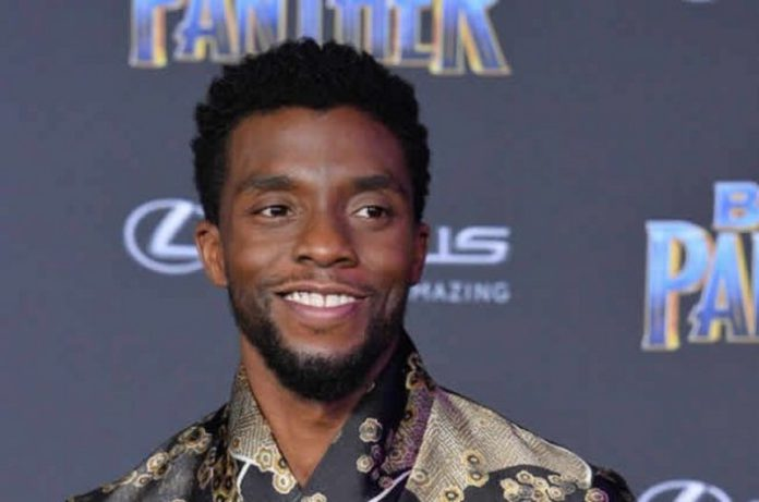 Cast member Chadwick Boseman attends the premiere of the sci-fi motion picture