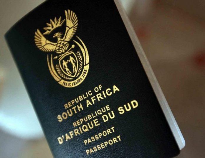 SA visa passport