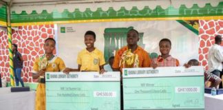 The respective winners were awarded cash prizes and all contestants given one-year free library subscription