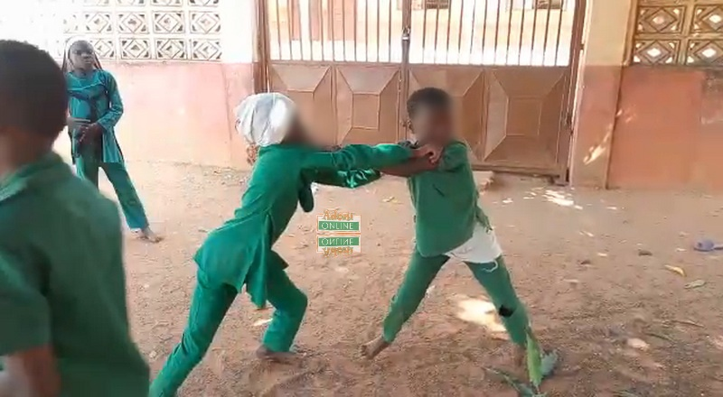 Pupil fighting at school