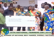 The national award comes with a cheque of GH¢ 536,000.00