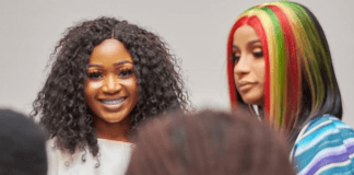 Akuapem Poloo and Cardi B (R)