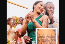 Keche Andrew's wife tattoos singer's name on her hand