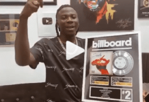 Stonebwoy becomes first Ghanaian to win a billboard plaque