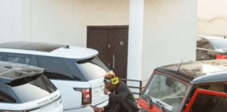 Shatta Wale shows off his cars