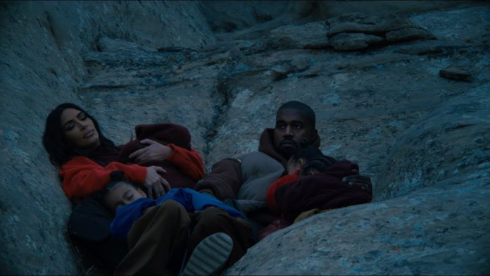 Kanye West and family in Closed on Sunday music video