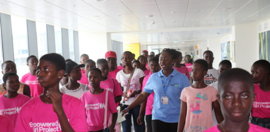 An elated second year junior high school pupil, Konney Cindy, sharing her excitement said her hope of becoming a flight attendant has been given a boost by Hewalenamo