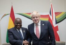 Akufo Addo and Boris Johnson