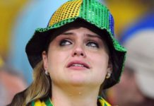 Brazil fans were emotional following their country's defeat to Germany in 2014