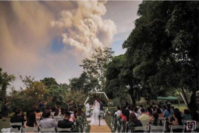 volcano wedding