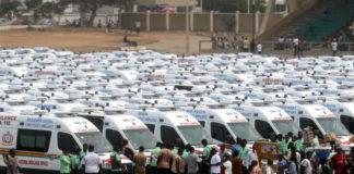 The ambulances