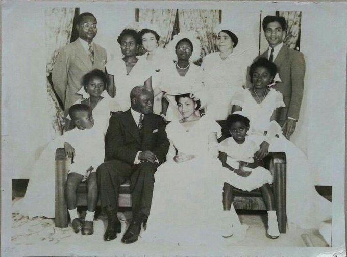 His Excellency Nana Addo Dankwa Akufo-Addo (1st Left) was a page boy at J.B. Danquah's wedding.1951