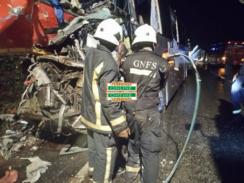 Fire Officers at the scene of the Dompoase accident
