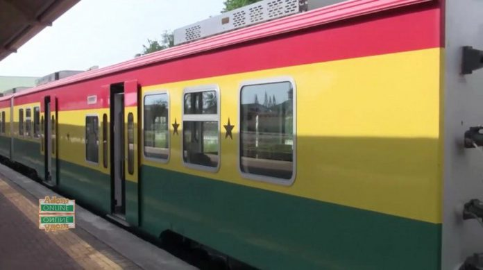 The train departed from the Takoradi station to Tarkwa at 6:15 am