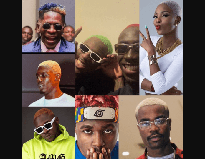 Ghanaian musicians who have their hair dyed