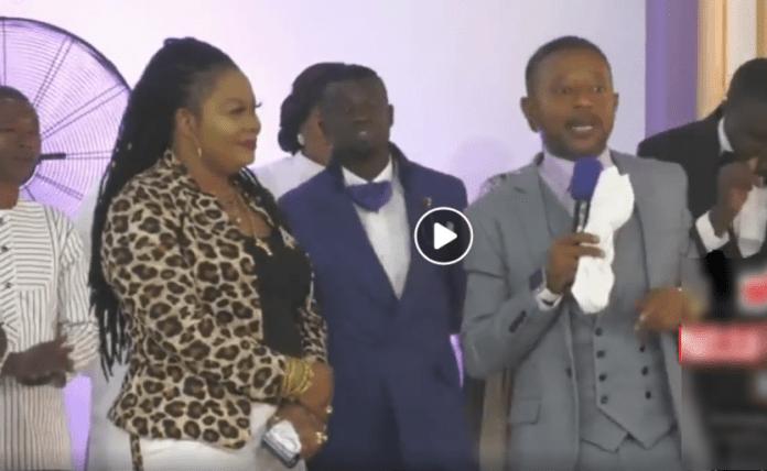 Nana Agradaa spotted leading worship in Rev. Owusu Bempah's church