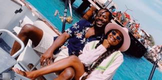 Simi and her husband Adekunle Gold