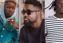 Shatta Wale, Sarkodie and Stonebwoy had their songs making an appearance on the list