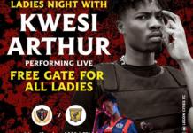 Kwesi Arthur to perform at Legon Cities' premier league match