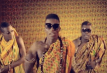 Castro (left), Kofi Kinaata (middle) and Asamoah Gyan in 'Odo Pa'
