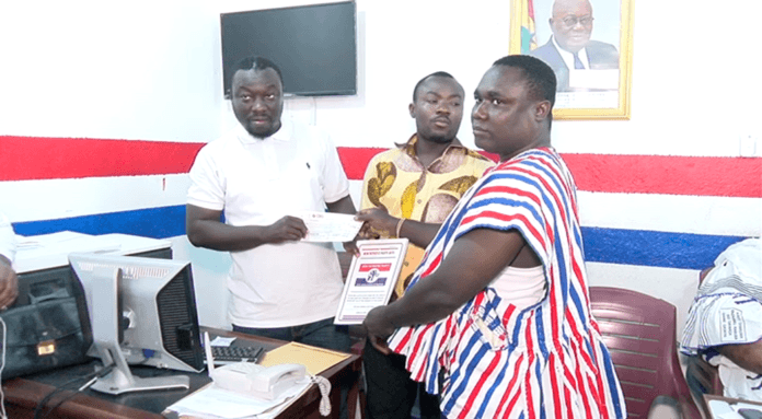 Speaking to the media after picking the forms, party chairman, Frank Debrah, said he decided to pick the form for the MP to contest again because he had an