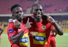 Asante Kotoko players celebrate