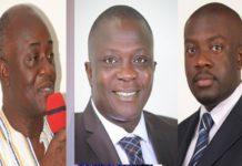 L-R: Dan Botwe, Bryan Acheampong and Kojo Oppong Nkrumah